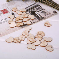 100Pcs Love Heart Wood Sewing Appointment Wedding Decoration Buttons Accessories