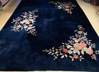 Circa 1920s ANTIQUE MINT ART DECO ROOM SIZE CHINESE NICHOLS RUG 9x12 MUST SEE
