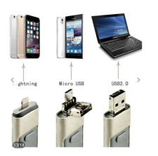 Clé USB 4 en 1 i-FDrive pr iPhone / iPad / Android / PC, 256 Go OTG Pendrive.