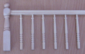 1/12, Dolls house diy Stairs Staircase Detailing Kit Bannister Spindles Wood LGW