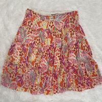 Chaps Ralph Lauren Petite Large Tiered Floral Colorful Lined Women's PL