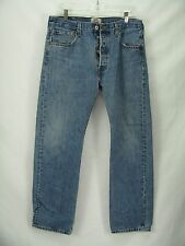 Levis 501 Classic Straight  Leg Perfect Fade Blue Jeans 34x 32   Mexico  CM25