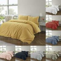 100% Cotton Linen Pure Natural Duvet Cover Bedding Set Double King Single