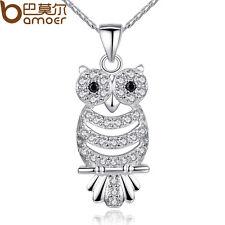 2015 Luxury Crystal Owl Pendant Necklace With AAA Zircon For Chrismas Girls Gift