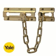 YALE SECURITY DOOR CHAIN IN POLISHED BRASS FINISH - P1037 - NEW