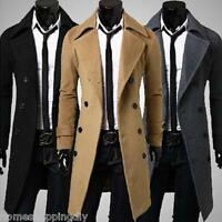 Fashion Men's Trench Coat Double Breasted Long Winter Jacket For Stylish Men DS