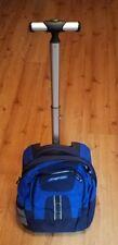 Jansport Wheeled Backpack Bag Books Laptop Blue & Black School Work Very Nice