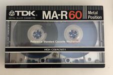 TDK MA-R 60 BLANK Sealed CASETTE METAL Position ALLOY Japan Vtg 1982 NOS