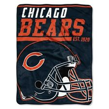 "New NFL Chicago Bears Soft Micro Rasche Large Throw Blanket 46"" X 60"""