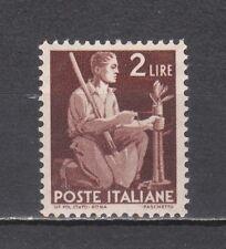ITALIA 1945 Democratica Lire 2 verde bruno lilla nuovo **