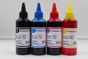 Premium 4x 100ml  Printer & Ciss Refill Ink fits  Epson Brother HP Printer