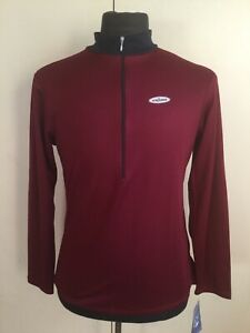 SheBeest Cranberry Half Zip Long Sleeve Cycling Jersey Women's Size Large NEW