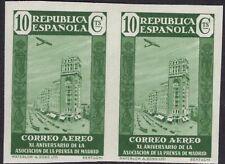 España 1936. Asociacion de la prensa sin dentar. Ed 714s. Pareja. MNH. **.