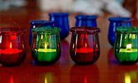 Set of Stylish Glass Tealight Candle Holders