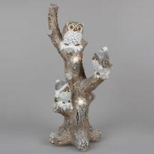 Baum Eule Vögel 60 cm LED-Licht Timer Weihnachtsdeko Dekofigur 743916 formano