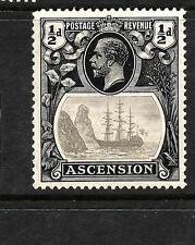 ASCENSION ISLAND  1924  1/2d   SHIP    MH  SG 10