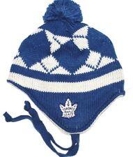 Toronto Maple Leafs CCM Vintage Hockey NHL Pom Pom Knit Hat Beanie Toque Chullo
