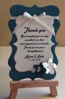 Hand made vintage teal wedding gift tags 20,50,100.
