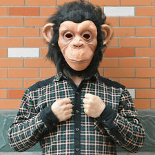 Monkey Mask Funny Adult Animal Costume Head Halloween Party Fancy Dress 1 Pcs