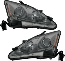 Halogen Headlights Headlamps Head Ligts NEW Pair Set for 06 07 08 Lexus IS250