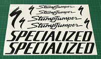 SPECIALIZED STUMPJUMPER Cycling Stickers Decals Custom Sizes Bike Frame Fork MTB