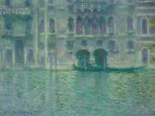 CLAUDE MONET FRENCH PALAZZO DA MULA VENICE OLD ART PAINTING POSTER BB5136A