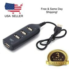 Black USB 2.0 Hi-Speed 4-Port Splitter Hub For PC Notebook Get *Buy 3get1 Free*