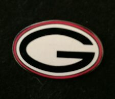 UNIVERSITY OF GEORGIA OVAL PIN - NCAA FREE SHIPPING BIN USA ONLY NO OFFERS