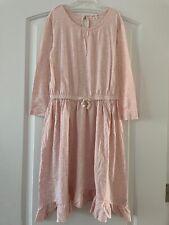 J Crew Crewcuts Girls 12y Pink Cotton Knit Dress EEUC Worn 1x