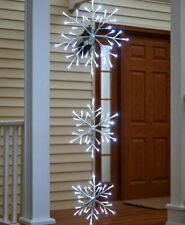 5 Ft Waterproof Lighted Triple Christmas Snowflake Porch Tree Dangler with Timer