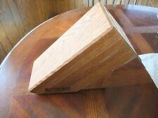 Vintage Chicago Cutlery Wood 9 Slot Knife Storage Block #1