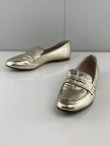 Basque Women's Casual Comfort Flat Shoes Size 36.5 Gold