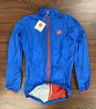 New Castelli Men's Large Blue Cycling Jacket