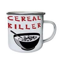 Cereals, Morning Meal, Healthy Breakfast Retro,Tin, Enamel 10oz Mug hh886e