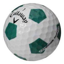 24 Golf Balls- Callaway Chrome Soft Truvis White / Green - AAAA Near Mint