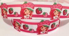 Grosgrain Ribbon 1 Meter - Strawberry Girl Ribbon 22 Mm