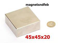 Blockmagnet Neodym-Magnete 45x45x20 Quader