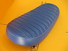 """YAMAHA DT100 DT125 ENDURO CAFE STYLE DOUBLE SEAT COMPLETE """"BLUE""""  (as)"""