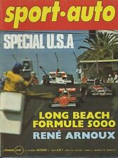 SPORT AUTO n°166 11/1975 avec encart et poster F5000 LONG BEACH A112 ABARTH