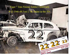 CD_2687 #22 Tiger Tom Pistone 1946-48 Ford 2 Dr. Sedan 1:25 scale decals