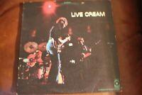 Live Cream 1970 LP Yellow Atco (Polydor) Label SD 33-328 Cover VG+ Vinyl VG+