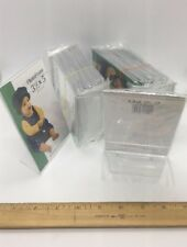 "Card Price Holders Plexi Slant Back Vertical Signage 5""H X 3.5""W Lot Of 24 New"
