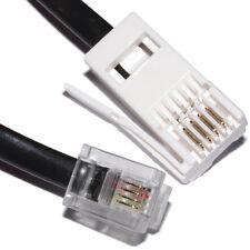 2M BT Spina A RJ11 Telefono Cavo,4 PIN Dritto cablati Modem, Router lead, Nero