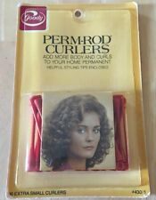 NEW & SEALED * VINTAGE GOODY PERM-ROD EXTRA SMALL RED CURLERS # 430/1 *