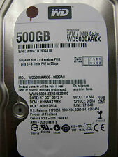 500gb western digital WD 5000 aakx - 003ca0/hhnnkt 2mh/2060-771640-003 Rev a
