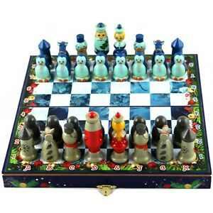 Christmas Chess Board for Kids - Wizard Chess Set for Kids - Childrens Games