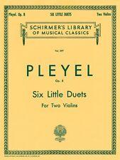 Six Little Duets Op. 8 Violin G Schirmer String Ensemble New 050254070