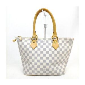 Louis Vuitton LV Tote Bag Saleya PM N51186 Whites Damier Azur 709045