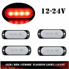 4x Red 4 LED Car Truck Emergency Beacon Warning Hazard Flash Strobe Light Bar