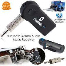 Wireless Bluetooth 3.5mm AUX Audio Stereo Music Home Car Receiver Adapter Mic